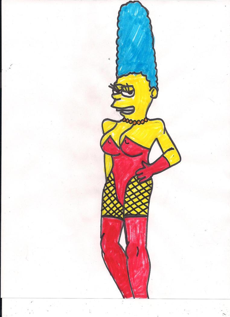 Sexy Marge Simpsons By Ajkiel91 On Deviantart-3221