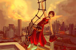 Ada Wong -Escape by Rooftop