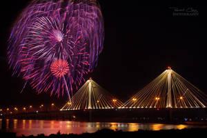 .:Clark Bridge Fireworks:. by RHCheng