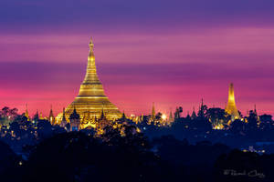 .:Shwedagon Pagoda Sunset I:. by RHCheng