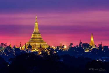 .:Shwedagon Pagoda Sunset I:. by RHCheng