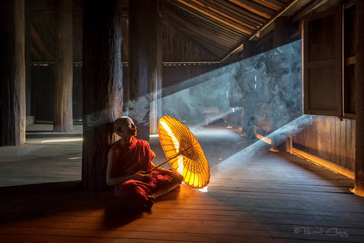 .:Young Monk in Bagan I:.
