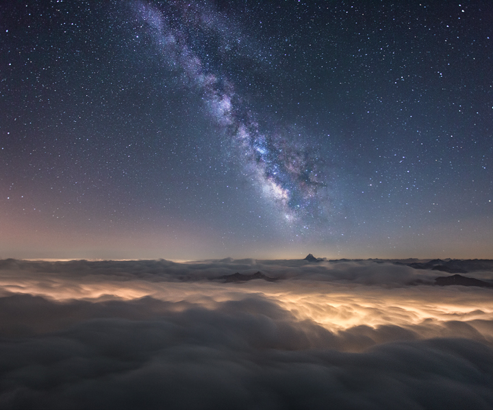 Milky Way Above a Sea of Clouds