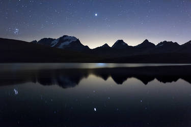 Pleiades and Jupiter by RobertoBertero