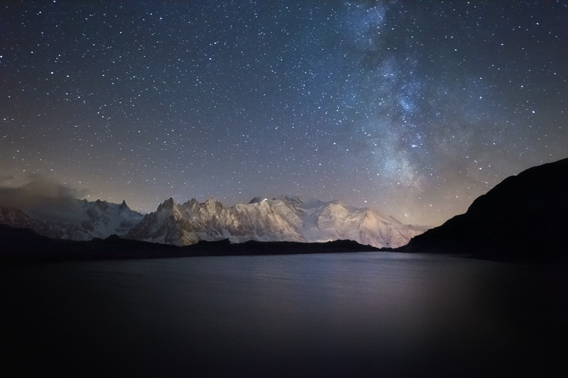 Milky Way above Mont Blanc by RobertoBertero
