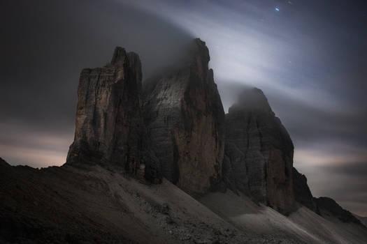 Tre Cime at Moonlight by RobertoBertero