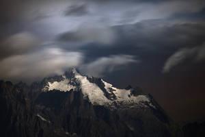 Mont Dolent at Moonlight