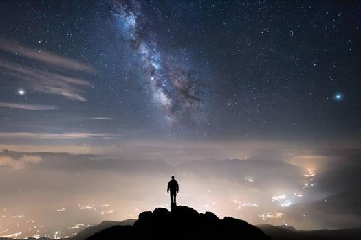 Wanderer Above a Sea of Lights