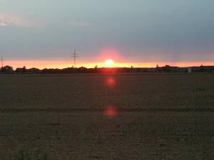 Sunrise at land