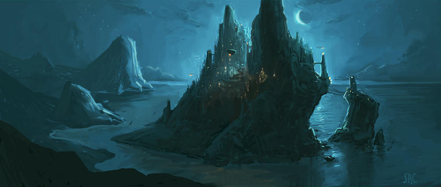 Sci Fi Stronghold : Shadow s stronghold by seancruz on deviantart