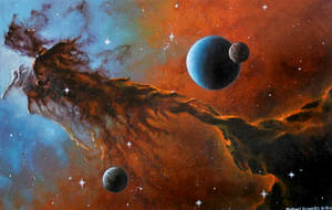 Worlds of the Nebula by MichaelBeaudry