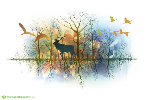 Forestsilhouette