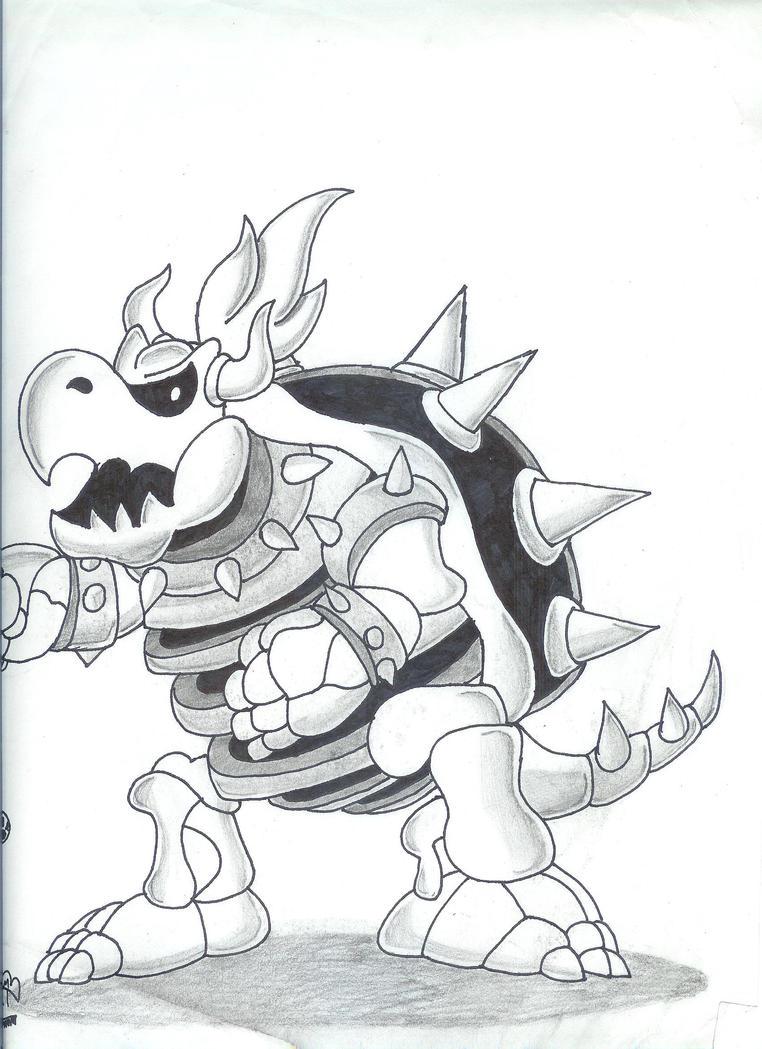 Mario Dry Bones Coloring Pages