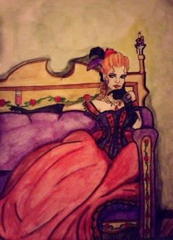 Maude red dress