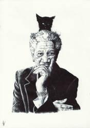 Morgan Freeman. Experiment phase i: base by Nnusia