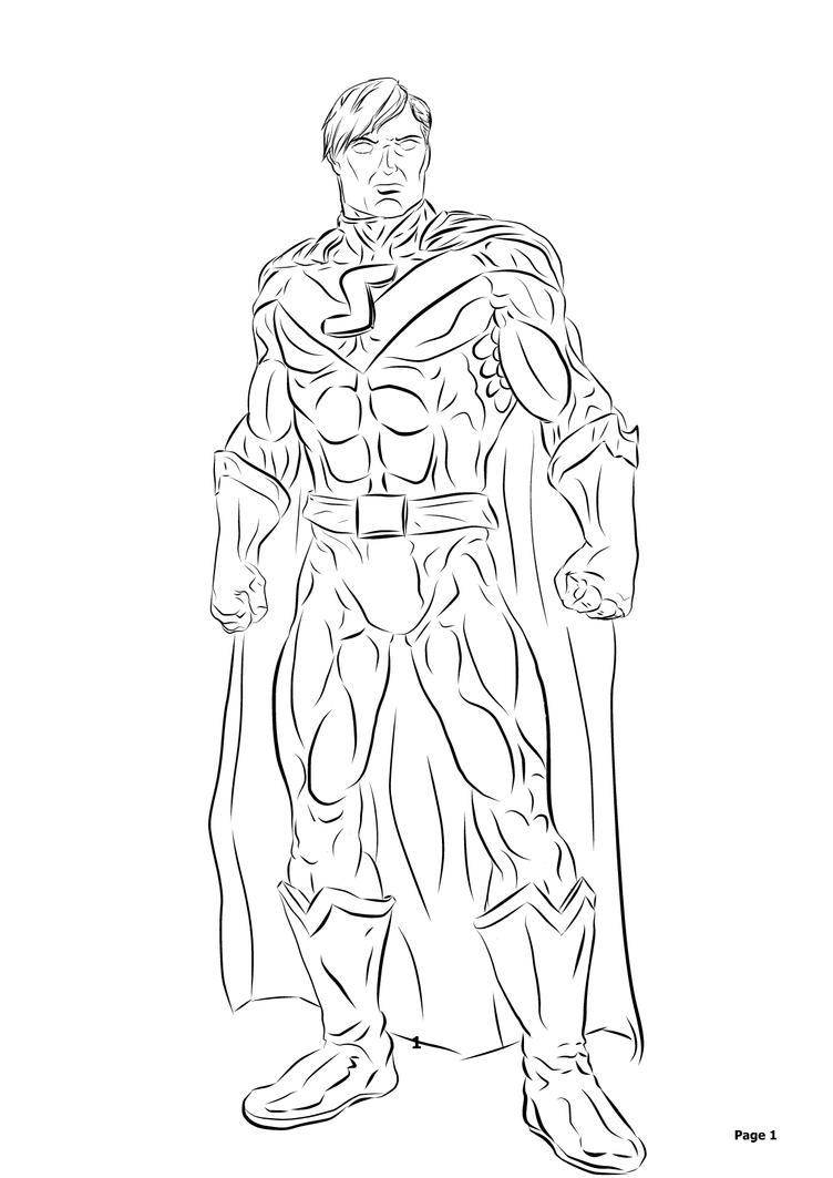 New Superman, My Version DCUO by elven-jedi
