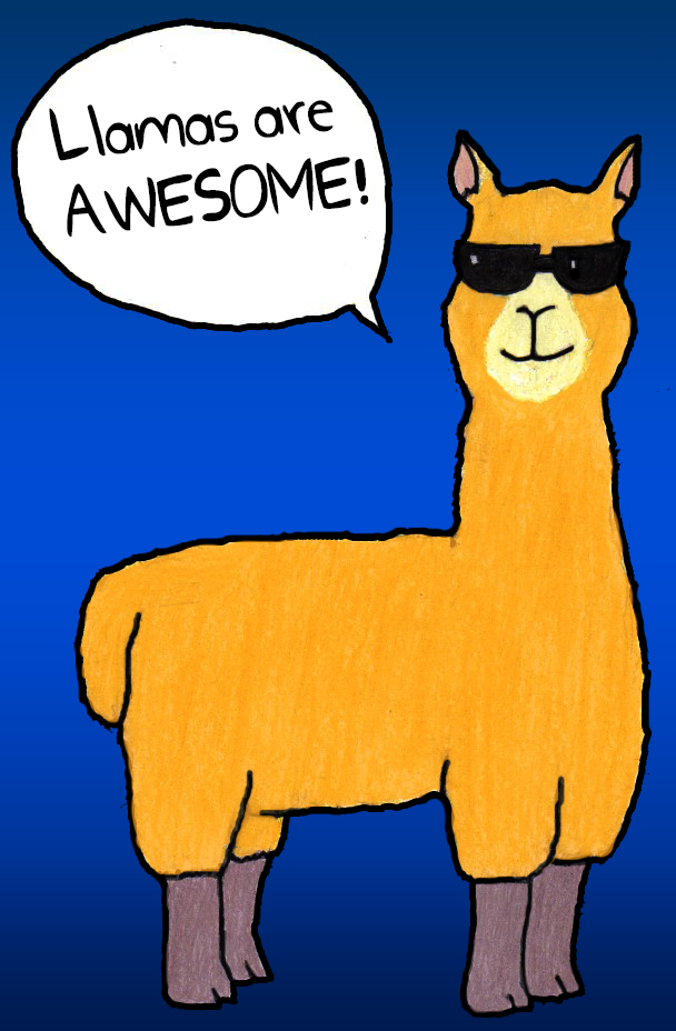 You know what's awesome? Llamas by GekodaZ