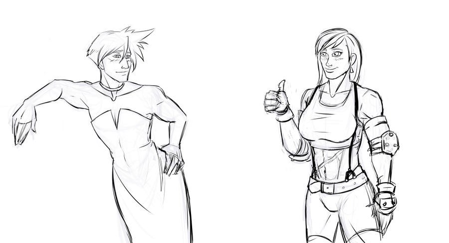 FF7 - More Prompts by MLPEndlessNight