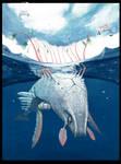 colossal aquatic female - tiny airborne male