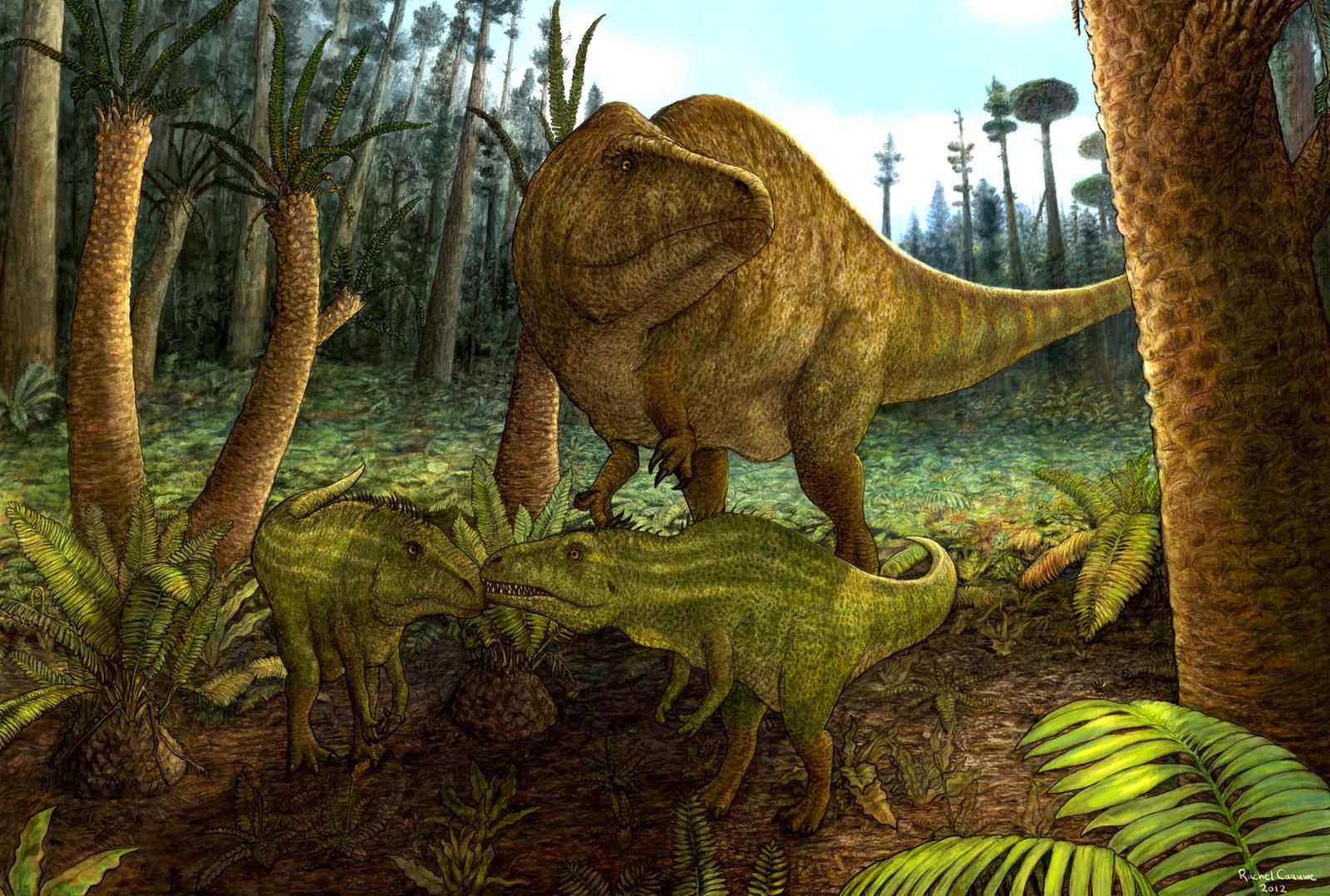 Acrocanthosaurus Family by Banvivirie