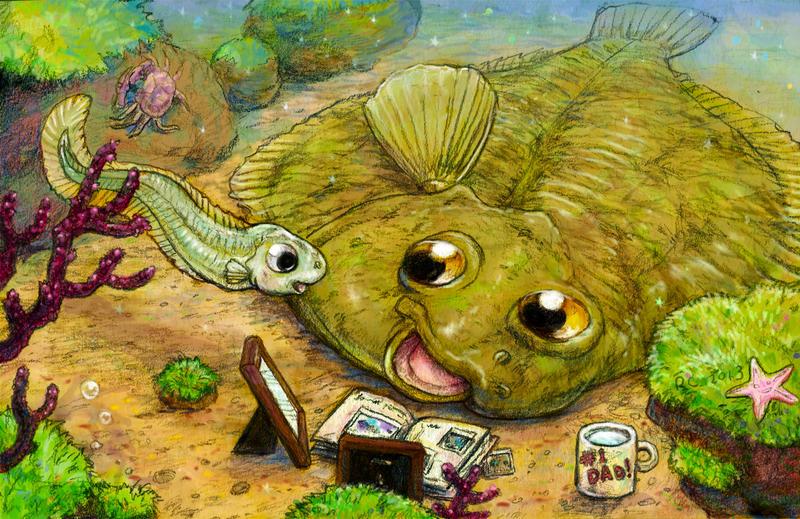 - children's illustration - Flounders by Banvivirie
