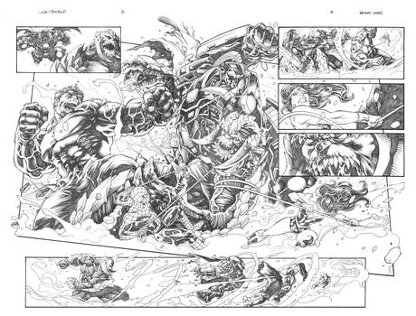 JLA  and  SHIELD  page 5 and 6