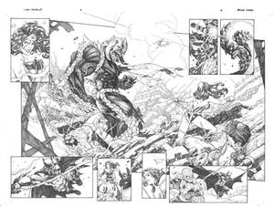 JLA  and  SHIELD  page 2 and 3