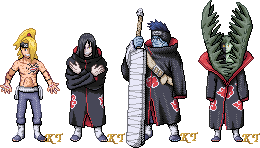 Random Akatsuki Sprites 2 by KingdomTriforce