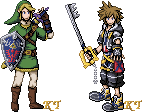 Link and Sora Sprites by KingdomTriforce