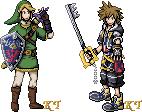 Link and Sora Sprites by KingdomTriforce