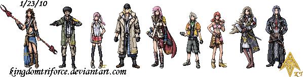 Final Fantasy XIII Sprites by ShinySeabass
