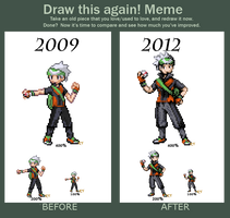Draw this again! Brendan Sprite