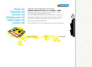 Printshop Website template