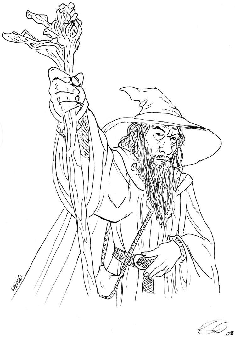 gandalf coloring pages-#9