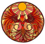 phoenix stained glass