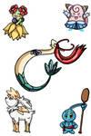 Disney Princesses Pokemon Style 1