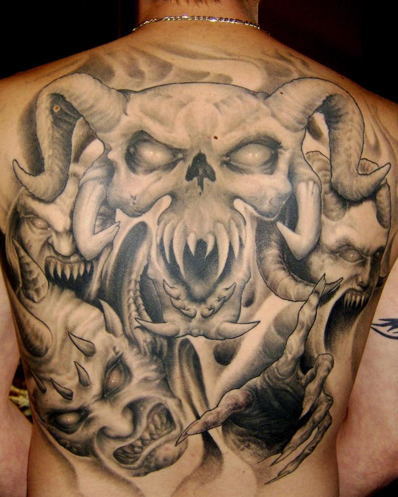 Skull Back Piece: Skull Back Piece By Jamiehenderson On DeviantArt