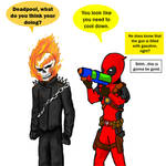 Deadpool prankin Ghost Rider