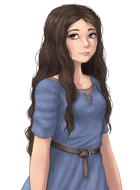 Sketch - Medieval girl by tether32 on DeviantArt