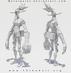 3D elf WIP final wifreframe by Beezul