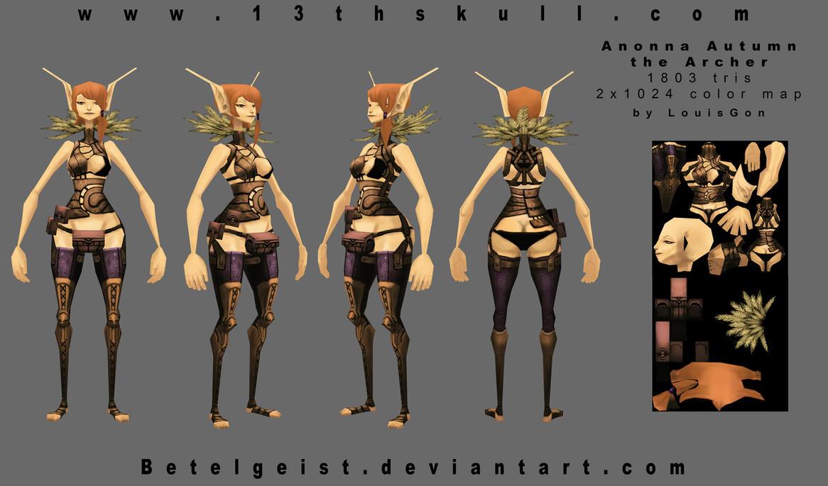 Autumn the Archer 3D  final by Beezul