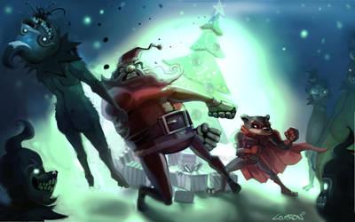 Santa smash by Beezul