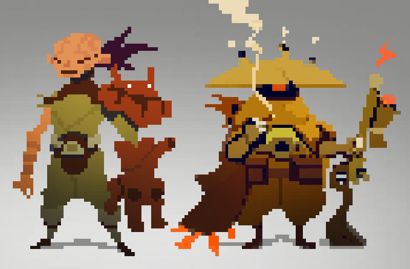 Pixel Character Design Tutorial : Epicjourneytimedude pixel by beezul on deviantart