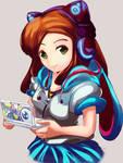 Commission anime version portrait