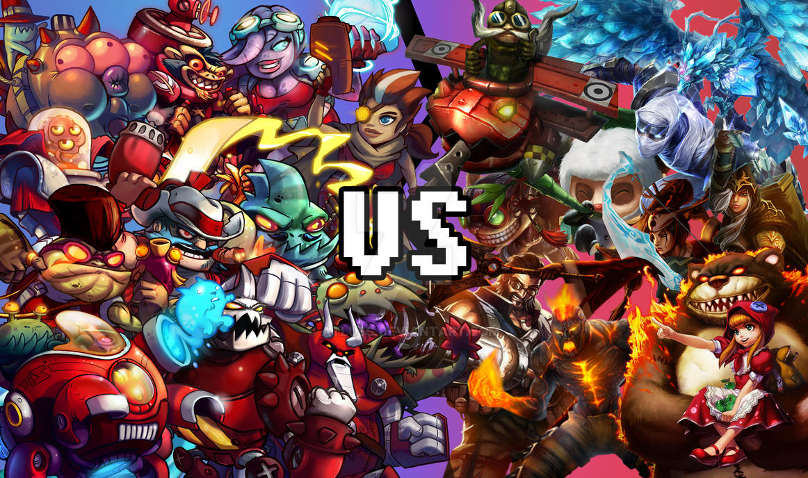 Awesomenauts VS League of Legends by Atluss