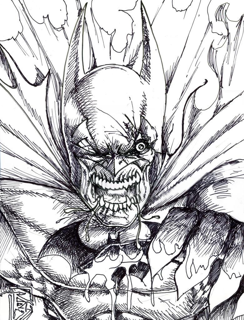 Zombie Batman By BigRob1031