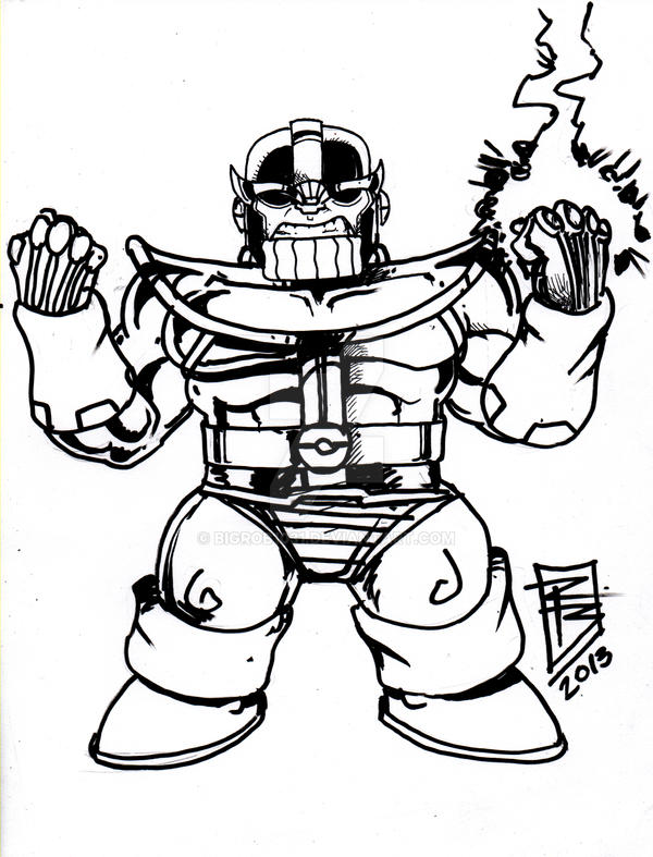 Infinity Gauntlet Thanos Coloring Pages Sketch Coloring Page Auto