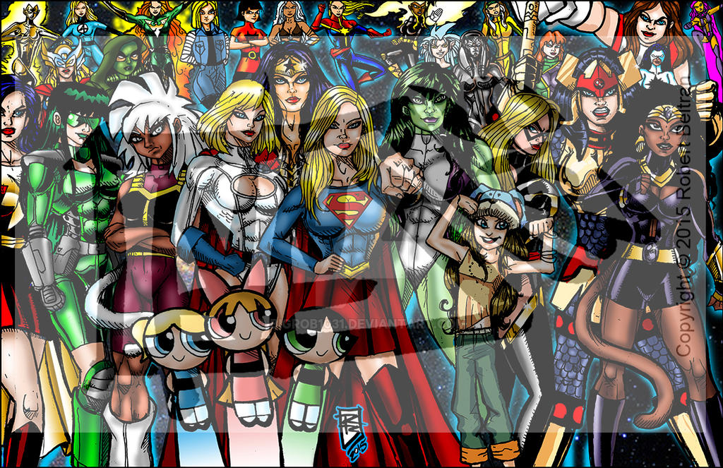 The Mightiest females final color by BigRob1031