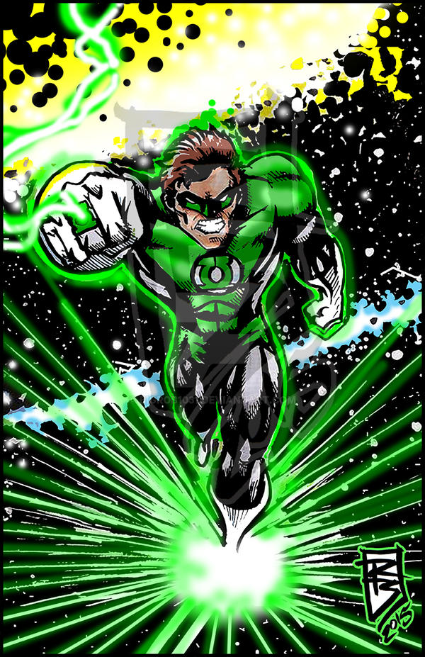 Green Lantern digital by BigRob1031