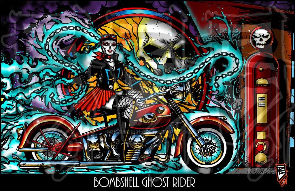 Bombshell Ghostrider by BigRob1031